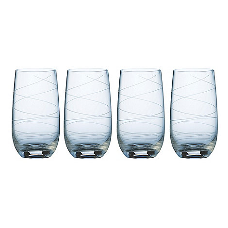 Galway Living - Spiral set of four hiball glasses