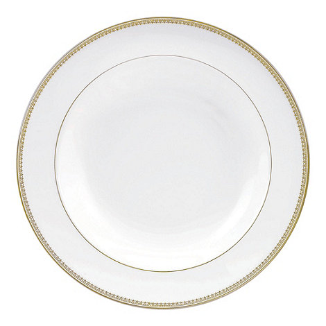 Vera Wang Wedgwood - White +Gold Lace+ rimmed soup platter