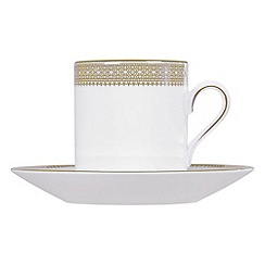 Vera Wang Wedgwood - White 'Gold Lace' coffee saucer