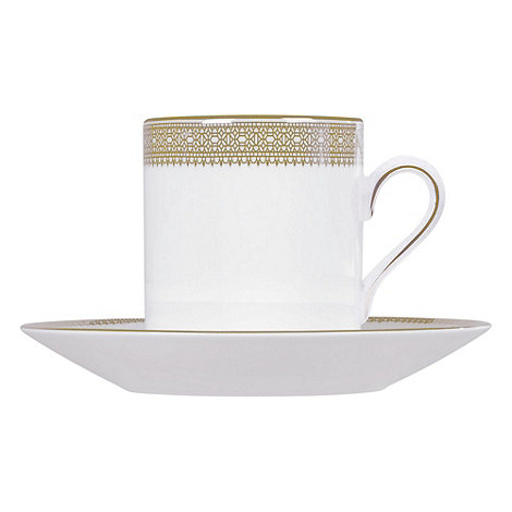 Vera Wang Wedgwood - White +Gold Lace+ coffee saucer