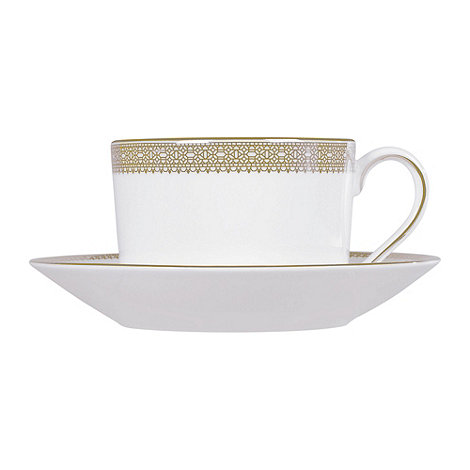 Vera Wang Wedgwood - White +Gold Lace+ tea saucer