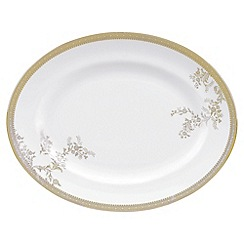 Vera Wang Wedgwood - White 'Gold Lace' large oval dish