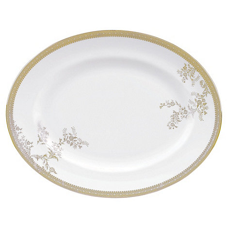 Vera Wang Wedgwood - White +Gold Lace+ large oval dish