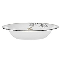 Vera Wang Wedgwood - White 'Gold Lace' open vegetable dish