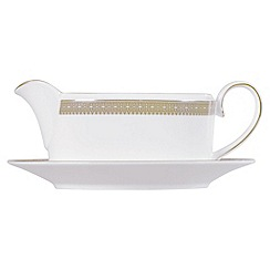 Vera Wang Wedgwood - White 'Gold Lace' sauce boat