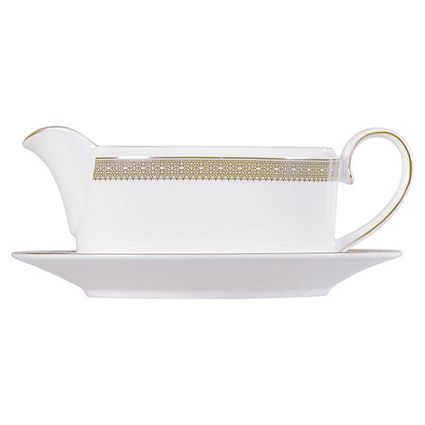 Vera Wang Wedgwood - White +Gold Lace+ sauce boat