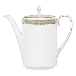 Vera Wang Wedgwood - White 'Gold Lace' coffee pot
