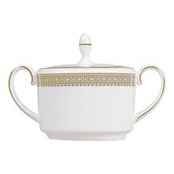 Vera Wang Wedgwood - White 'Gold Lace' sugar box