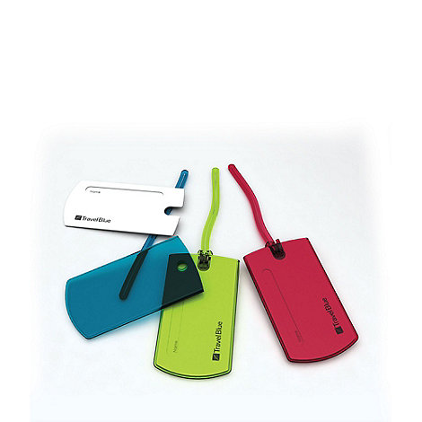 Travel Blue - Multi jelly tag (2 tags set)