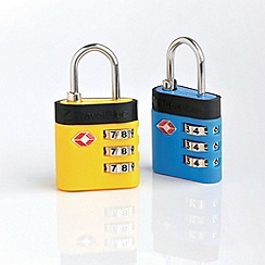 Travel Blue - TSA Combi De-Luxe Lock Blue/Yellow