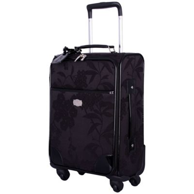 Black Hydrangea Cabin 4 Wheel Suitcase