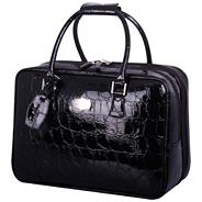 Opulence Croc Laptop Bag with 2 Compartments Black