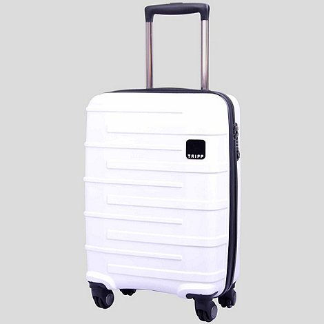 Tripp - Star Lite Carry On 4-Wheel Suitcase White