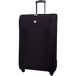 Tripp - Glide Lite II 4-Wheel Large Suitcase Black