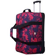Express Autumn Flower 2-Wheel Duffle Grape/Raspberry