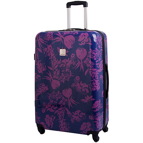 Tripp - Express Autumn Flower Hard Large Suitcase Navy/Mulberry