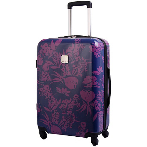 Tripp - Express Autumn Flower Hard Med Case Navy/Mulberry