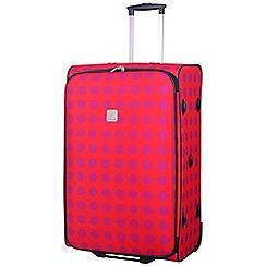 Tripp - Express Dots 2- Wheel Large Suitcase Coral/Magenta