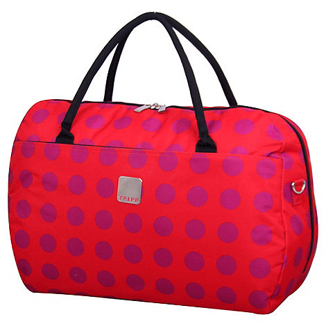 Tripp - Express Dots Large Holdall in Coral/Magenta