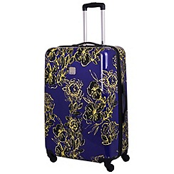 Tripp - Abstract Flower Hard 4W Large Case Indigo/Citron
