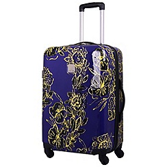 Tripp - Abstract Flower Hard 4W Medium Case Indigo/Citron