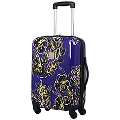 Tripp - Abstract Flower Hard 4W Cabin Case Indigo/Citron