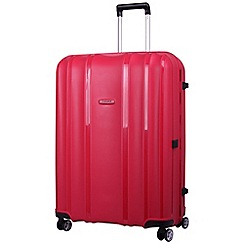 Tripp - Shield  4-Wheel Large Suitcase Berry
