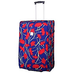 Tripp - Poppy Large 2-Wheel Suitcase Indigo/Coral