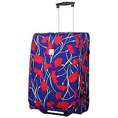 Tripp - Poppy Medium 2-Wheel Suitcase Indigo/Coral