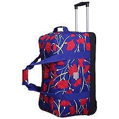 Tripp - Poppy Large Wheel Duffle Indigo/Coral