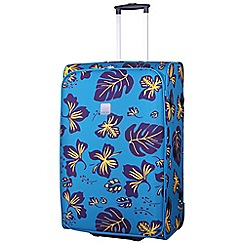 Tripp - Scattered Leaf Large 2-Wheel suitcase Turquoise/Grape