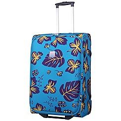 Tripp - Scattered Leaf Medium 2-Wheel suitcase Turquoise/Grape