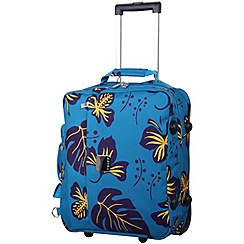 Tripp - Scattered Leaf Cabin 2-Wheel suitcase Turq/Grape
