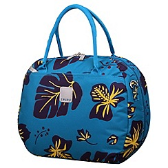 Tripp - Scattered Leaf Holdall in Turquoise/Grape