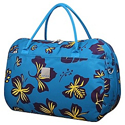 Tripp - Scattered Leaf Large Holdall in Turquoise/Grape
