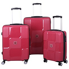 Tripp - World 4-wheel Suitcase Range in Ruby