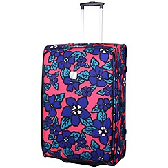Tripp - Hibiscus Large 2-Wheel Suitcase Coral/indigo