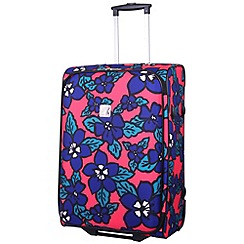 Tripp - Hibiscus Medium 2-Wheel Suitcase Coral/indigo