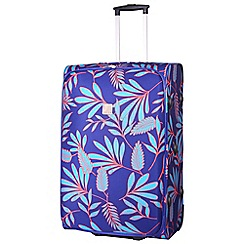 Tripp - Indigo/turquoise 'Express Fern' large 2 wheel suitcase