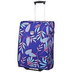 Tripp - Indigo/turquoise 'Express Fern' medium 2 wheel suitcase