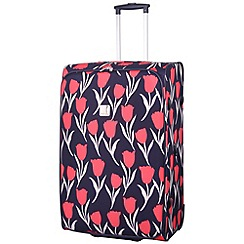 Tripp - Express Tulip 2-Wheel Large Suitcase Navy/Coral
