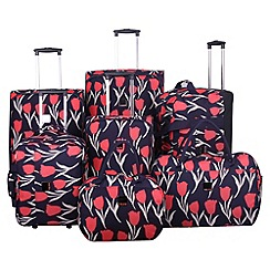 Tripp - Express Tulip 2-wheel Suitcase Range in Navy/Coral