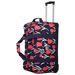 Tripp - Express Tulip large Wheel Duffle Navy/Coral