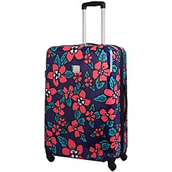 Tripp - Hibiscus Hard Large 4-Wheel Suitcase Indigo/Coral