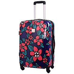 Tripp - Hibiscus Hard Medium 4-Wheel Suitcase Indigo/Coral