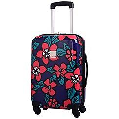 Tripp - Hibiscus Hard Cabin  4-Wheel Suitcase Indigo/Coral