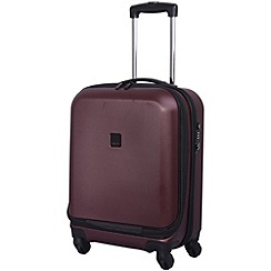 Tripp - Lite 4-Wheel Dual Access Cabin Suitcase Crimson