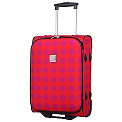 Tripp - Express Dots 2-Wheel Cabin Suitcase Magenta/Coral