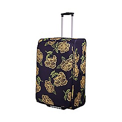 Tripp - Express Bloom 2-Wheel Large Suitcase Navy/Yellow