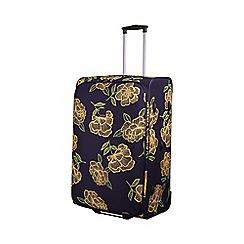 Tripp - Express Bloom 2-Wheel Large Suitcase Navy/Yellow